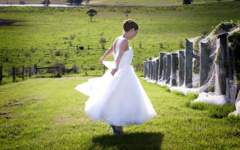 Beautiful Silk Satin and  Chiffon wedding dress by Nelder Jones