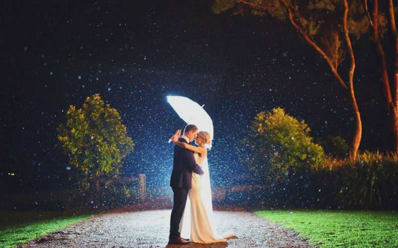 Rain didn't stop Sarah and her new hubby